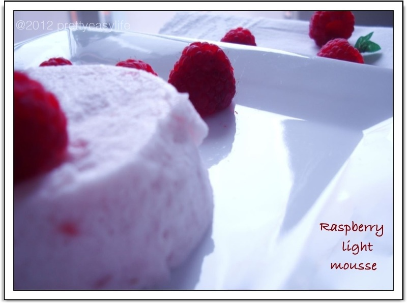 light raspberry mousse